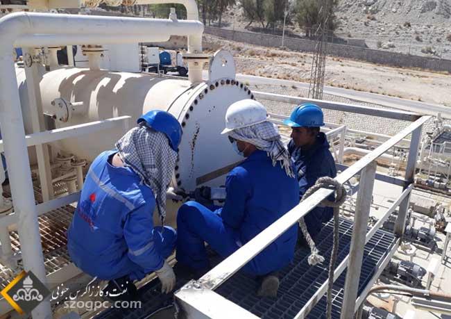 تعمیرات اساسی مراکز تفکیک سه گانه و خطوط لوله جریانی چاه های ناحیه نار 4