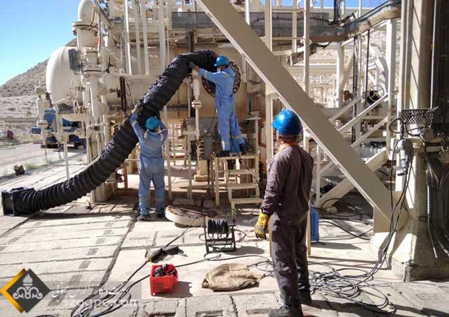 تعمیرات اساسی مراکز تفکیک سه گانه و خطوط لوله جریانی چاه های ناحیه نار 10